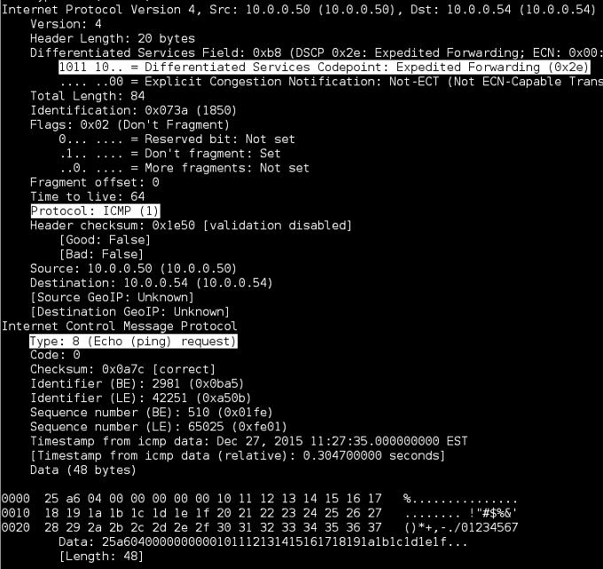 Linux TShark Verbose